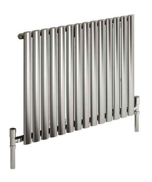 Reina Nerox Single 1180 x 600mm Brushed Stainless Steel Radiator
