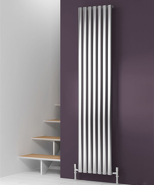Reina Nerox Single 295 x 1800mm Brushed Stainless Steel Radiator