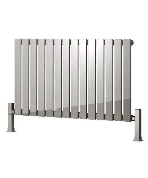 Reina Calix Polished Stainless Steel Radiator 660 x 600mm