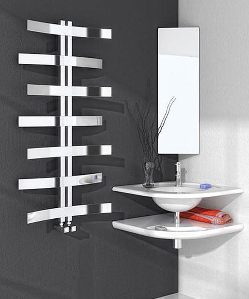 Reina Lioni Stainless Steel 600 x 1200mm Designer Radiator