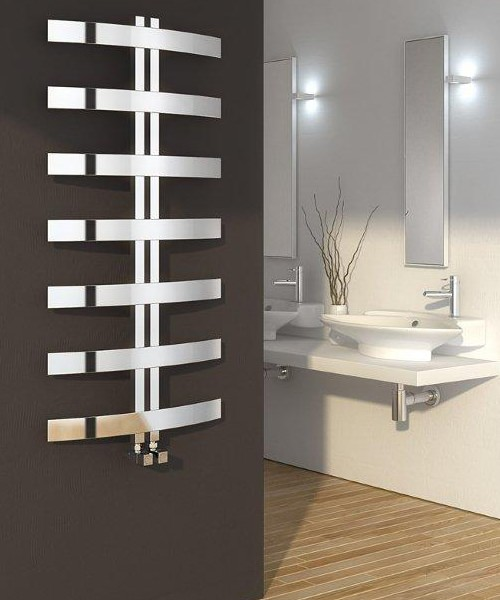 Reina Riesi Stainless Steel 600 x 1200mm Designer Radiator