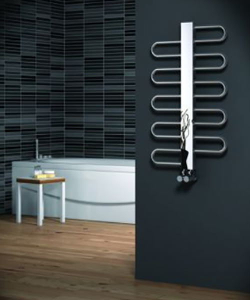 Reina Dynamic Satin Stainless Steel Designer Radiator 500 x 475mm