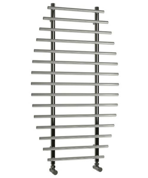 Reina Enna Satin Stainless Steel Designer Radiator 700 x 1200mm