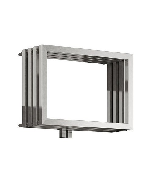 Reina Caldo Satin Stainless Steel Designer Radiator 700 x 500mm