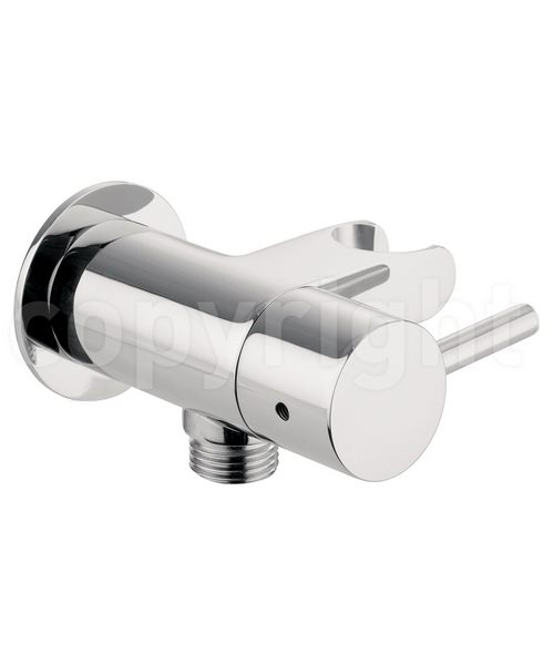 Crosswater Douche Wall Outlet-Hose Attachment And Shut Off Valve