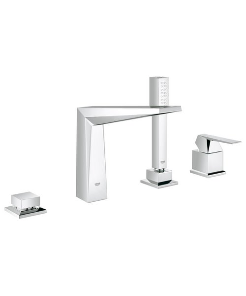 Grohe Spa Allure Brilliant Chrome 4 Hole Bath Combination Set