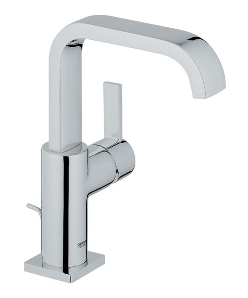 Grohe Spa Allure Chrome U Spout Basin Mixer Tap With Pop-up Waste