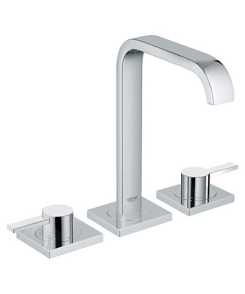 Grohe Spa Allure Deck Mounted 3 Hole Basin Mixer Tap Chrome