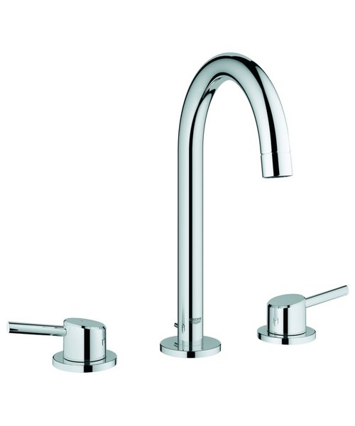 Grohe Concetto 3 Hole High Spout Basin Mixer Tap