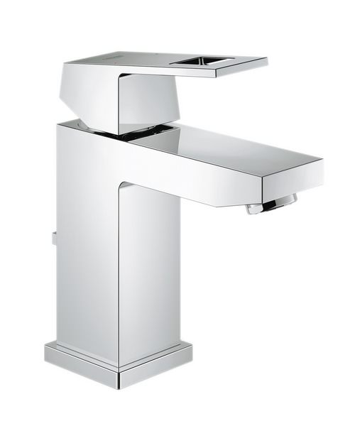 Grohe Eurocube Chrome Basin Mixer Tap With Pop Up Waste