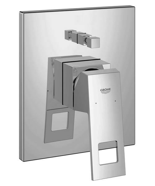 Grohe Eurocube Chrome Single Lever Bath Shower Mixer Valve Trim