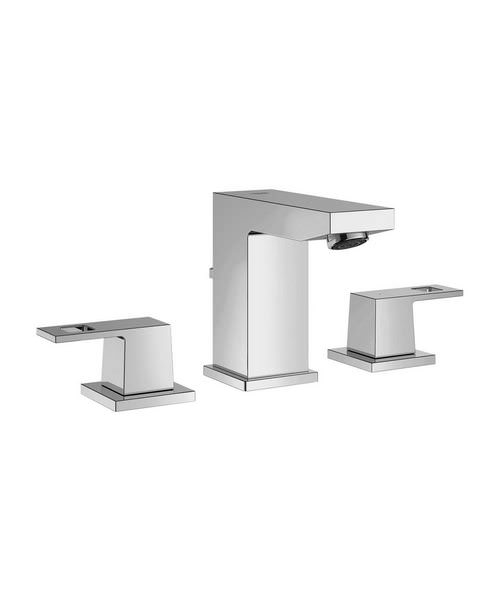 Grohe Eurocube Deck Mounted 3 Hole Basin Mixer Tap With Metal Lever