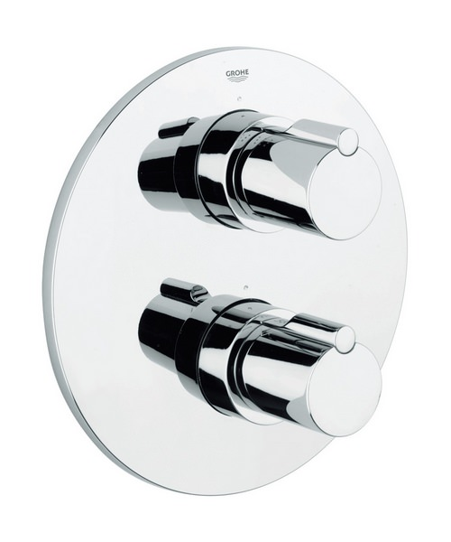 Grohe Tenso Thermostatic Bath Shower Mixer Valve Trim With 2 Way Diverter