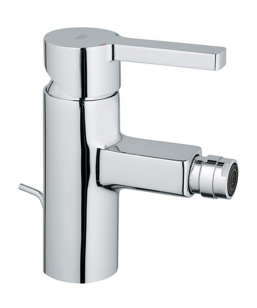 Grohe Lineare Chrome Bidet Mixer Tap With Pop-Up Waste