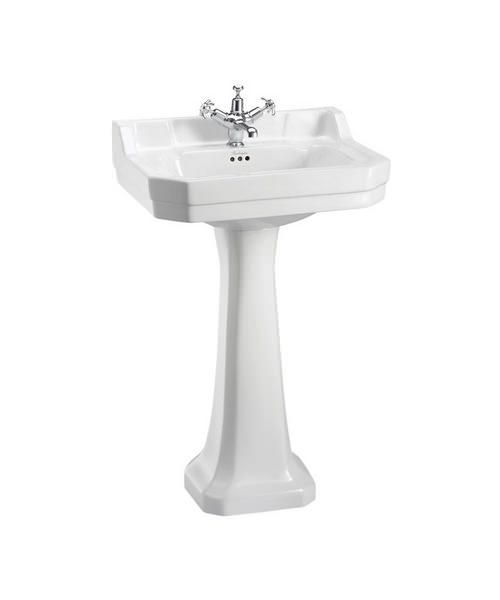 Burlington Edwardian 560mm Basin With Full Pedestal