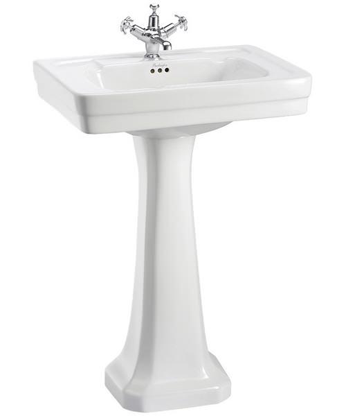 Burlington Contemporary 580mm Basin And Full Pedestal