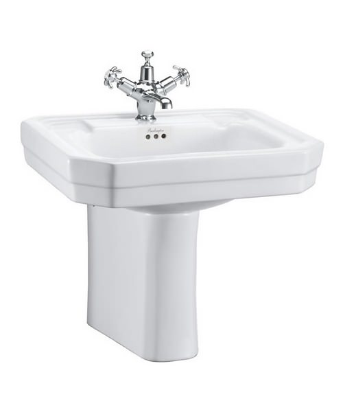 Burlington Victorian 560mm Basin And Semi Pedestal