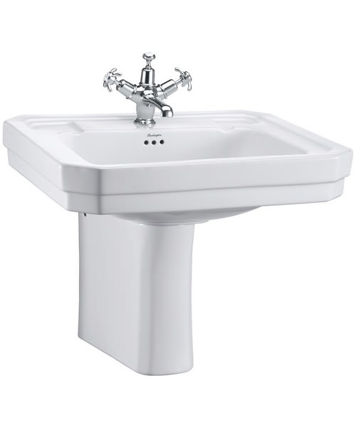 Burlington Victorian 610mm Basin And Semi Pedestal