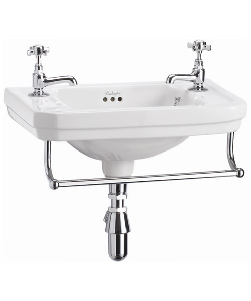 Victorian 510mm Wall Mounted Cloakroom Basin And Towel Rail