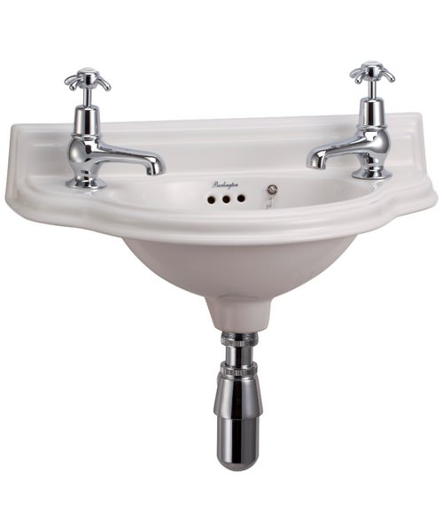 Burlington Curved Cloakroom Basin Wall Mounted