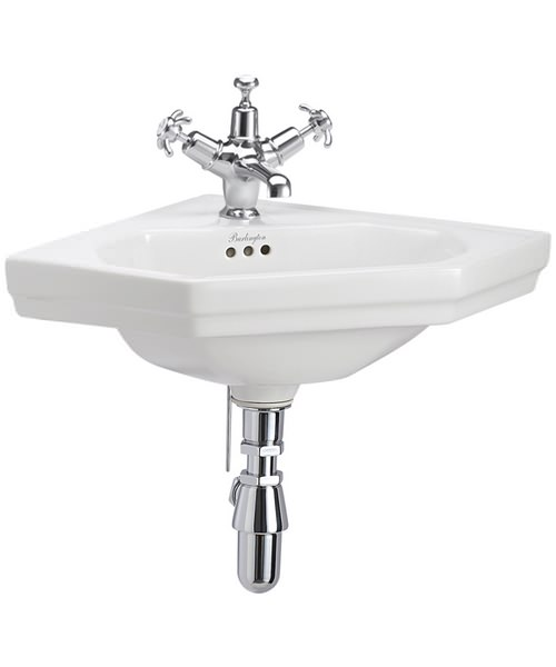 Burlington Corner Cloakroom Basin Wall Mounted
