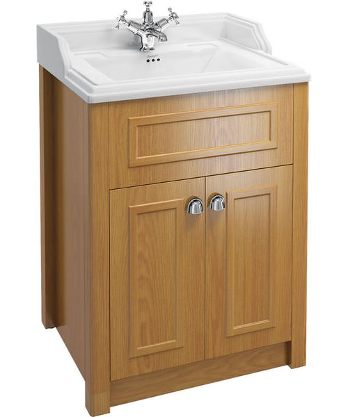Burlington Classic Basin With Oak Vanity Unit