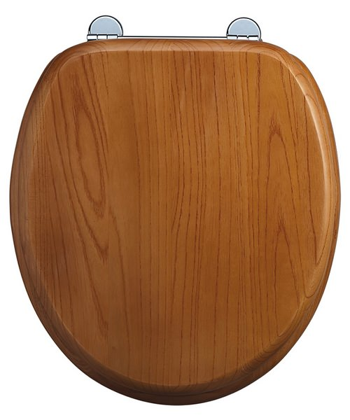 Burlington Wooden Standard Oak Toilet Seat