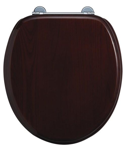 Burlington Wooden Standard Mahogany Toilet Seat