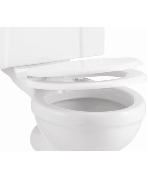 Burlington Carbamide Soft-Close White Toilet Seat
