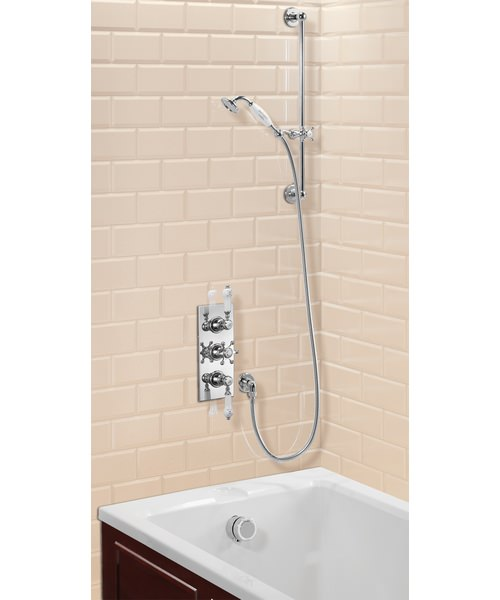 Clyde Concealed Thermostatic Shower Valve With Slide Rail Kit