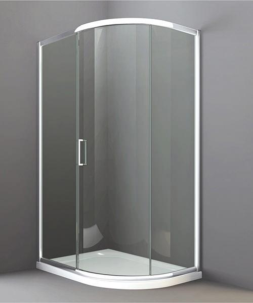 Merlyn 8 Series 1 Door Offset Quadrant Enclosure 900 x 760mm