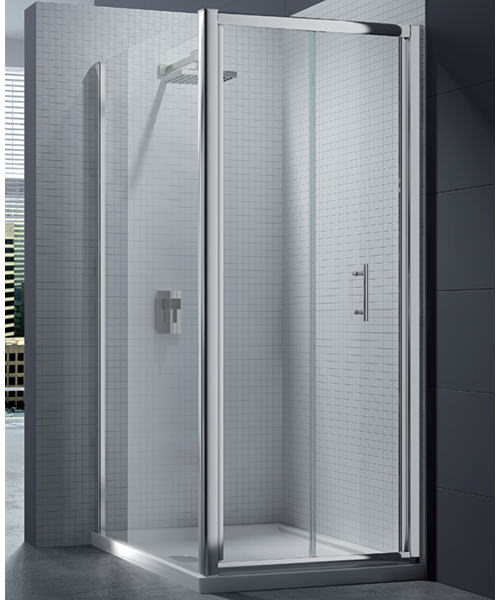 Merlyn 6 Series 4mm Clear Glass Bi-Fold Shower Door 700mm