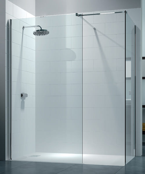Merlyn 8 Series 1600 x 800mm Walk In Enclosure With End Panel