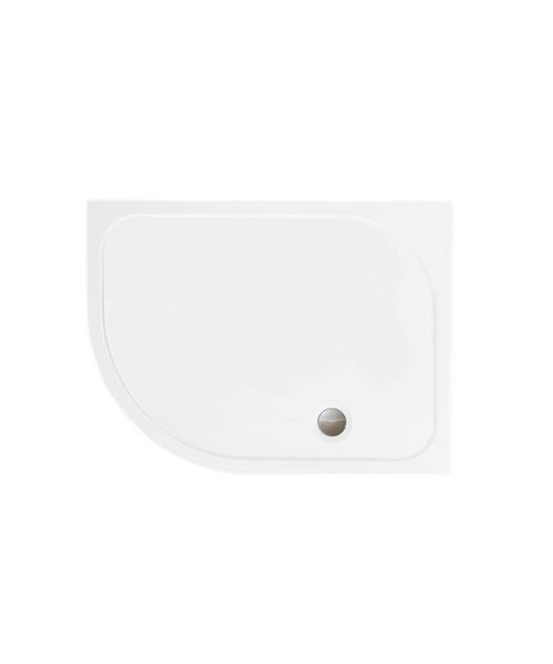 Merlyn Mstone Offset Quadrant Tray Left Handed With Waste 1200 x 800mm