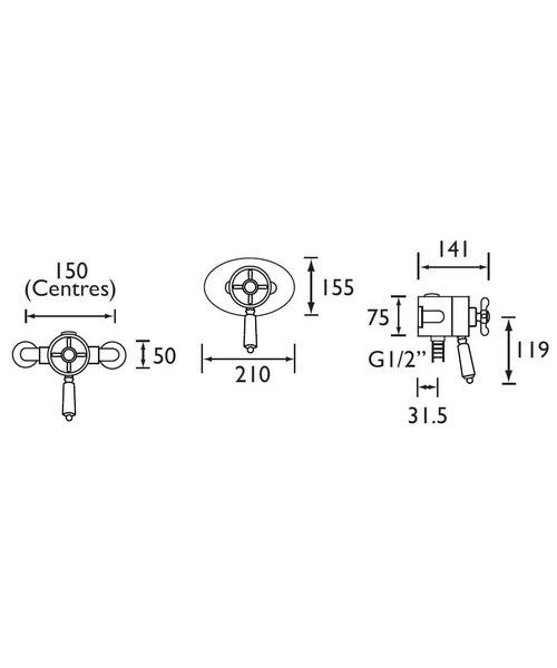 Technical drawing 3288 / N CSHXVO G