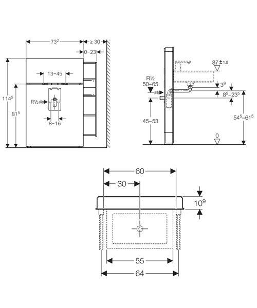 Technical drawing 29555 / 131.049.SQ.1
