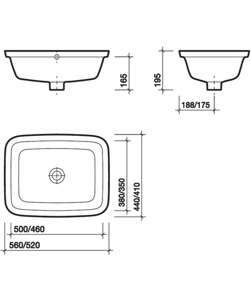 Technical drawing 13782 / MD4540WH