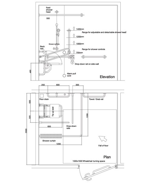 Technical drawing 7649 / PK7005WH