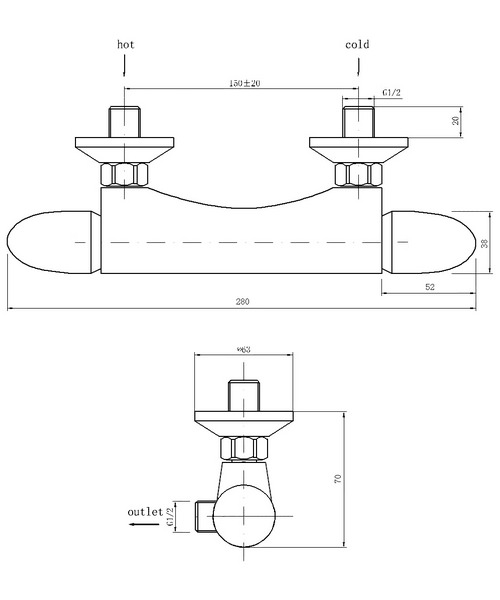 Technical drawing 30633 / THERMO1