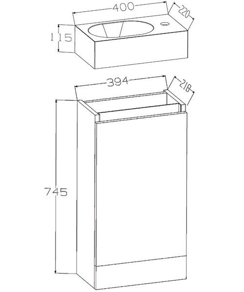 Technical drawing 30687 / EC40FSWG