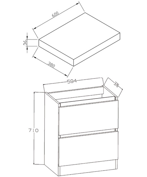 Technical drawing 30702 / EC60FSWG