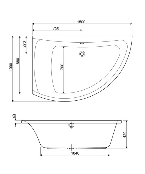 Technical drawing 33657 / 154COMETLH
