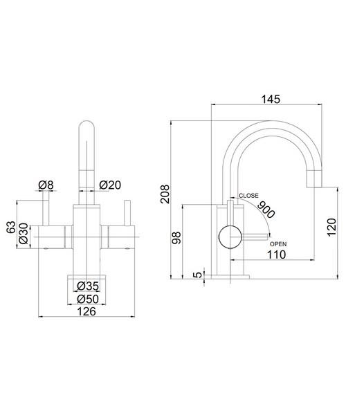 Technical drawing 36344 / PRO118DNC