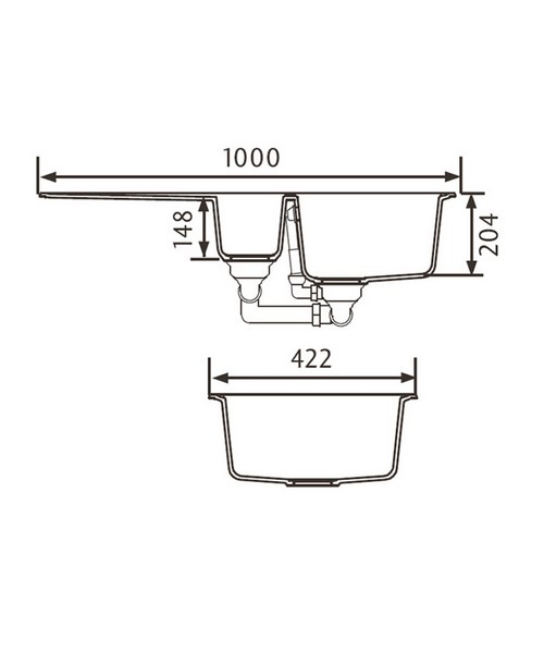 Technical drawing 39004 / AME1052CW/