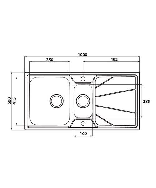 Technical drawing 37672 / KO15XXHOMEPK5