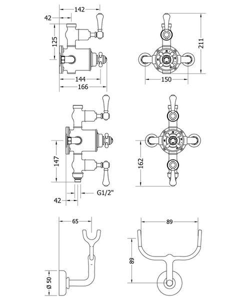 Technical drawing 49121 / BEL_CRADLE
