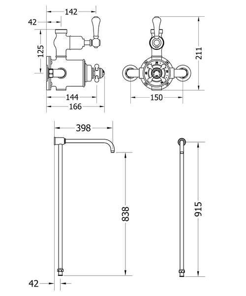 Technical drawing 49126 / BEL_SHOWER