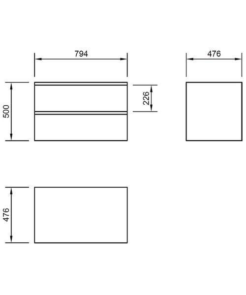 Technical drawing 46818 / XC80DDWMCLO