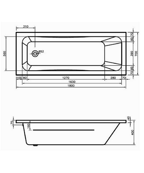 Technical drawing 50091 / BH072S1