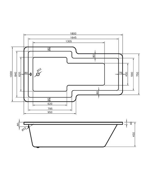 Technical drawing 50109 / BO015S1